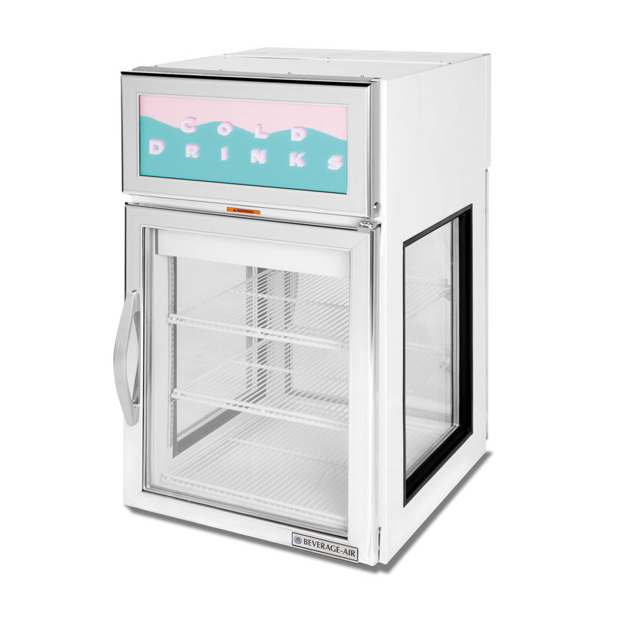 Countertop Height Fridge : Beverage Air CR5GE-1W-G White Countertop Merchandiser Refrigerator ...