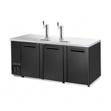 Maxx Cold MCBD90-3B Keg Cooler with Two Draft Towers, Three Doors