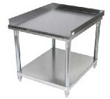 BK Resources SVET-2430 Equipment Stand with Stainless Steel Top Shelf and Undershelf