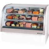 "Beverage Air CDR4-1-W White Curved Glass Refrigerated Bakery Display Case 49"" - 18.1 Cu. Ft."