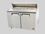 Atosa Catering Equipment MSF8303 Double Big Doors Refrigerated Salad Prep 18.2 Cu.Ft. Capacity