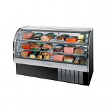 "Beverage Air CDR6-1-B Black Curved Glass Refrigerated Bakery Display Case 73"" - 27.6 Cu. Ft."