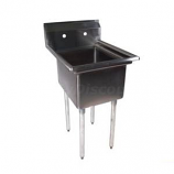 """BK Resources BKS-1-18-12 Stainless 1 Compartment Sink w/ 18"""" x 18"""" x 12"""" Bowl"""