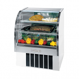 "Beverage Air CDR3-1-W White Curved Glass Refrigerated Bakery Display Case 37"" - 13.4 Cu. Ft."