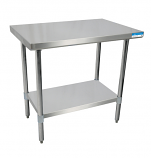 """BK Resources SVT-1830 Work Table with Stainless Steel Shelves and Legs. 30"""" x 18"""""""