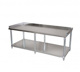 BK Resources SVET-7230-6 Equipment Stand with Stainless Steel Top Shelf and Undershelf. Six Legs