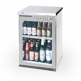 """Beverage Air BB24GF-1-S 24"""" Food Rated Glass Door Back Bar Refrigerator - Stainless Steel"""