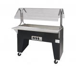 Triumph B2-CPU-B Portable Cold Pan Food Buffet Table w/ Open Base, 2-Pan Wells, Ice Cooled