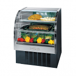 "Beverage Air CDR3-1-B Curved Glass Refrigerated Bakery Display Case. Black. 37"" - 13.4 Cu. Ft."
