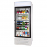 """Beverage Air LV27-1-W-LED White LumaVue 30"""" Refrigerated Glass Door Merchandiser with LED Lighting - 27 Cu. Ft."""