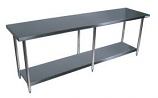 """BK Resources SVT-1896 Work Table with Stainless Steel Shelves and Legs. 96"""" x 18"""""""