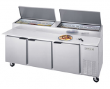Beverage Air DP93 Pizza Prep Table - 93""