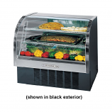 "Beverage Air CDR4-1-B Black Curved Glass Refrigerated Bakery Display Case 49"" - 18.1 Cu. Ft."