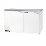 """Beverage Air MS58-1-W White Single Sided Milk Cooler with Stainless Steel Top - 58"""""""