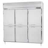 Beverage Air PRF48-24-1AH-02 Refrigerator/Freezer, Reach-In, 3 Section, Top Mount, SS Half Doors