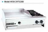 American Range AR48-36TG2OB Thermostatic Gas Griddles with Open Burners