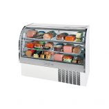 "Beverage Air CDR5-1-W White Exterior Curved Glass Refrigerated Bakery Display Case 61"" - 22.9 Cu. Ft."