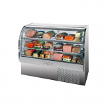 "Beverage Air CDR5-1-S Stainless Steel Exterior Curved Glass Refrigerated Bakery Display Case 61"" - 22.9 Cu. Ft."