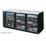 """Beverage Air BB78GF-1-S-PT Food Rated, Pass Thru, Backbar Cabinet, Refrigerated, Stainless 79"""""""