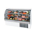 "Beverage Air CDR6-1-W White Finish Curved Glass Refrigerated Bakery Display Case 73"" - 27.6 Cu. Ft."