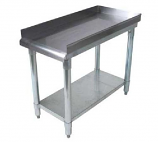 BK Resources SVET-1830 Equipment Stand with Stainless Steel Top Shelf and Undershelf
