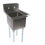 BK Resources BKS-1-1620-12 1 Compartment Stainless Sink, No Drainboard