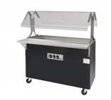 Triumph B2-CPU-B-SB Portable Cold Pan Food Buffet Table w/ Solid Base, 2 Pan, Ice Cooled