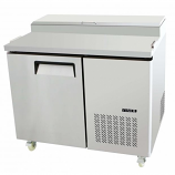 Atosa Catering Equipment MPF8201 Single Door Refrigerated Pizza Prep 14 Cu.Ft. Capacity