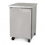 """Beverage Air BB24-1-S 24"""" Stainless Steel Back Bar Refrigerator with 1 Solid Door - 115V"""