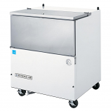 """Beverage Air SM34N-W-02 White Exterior and Stainless Steel Interior Milk Cooler 1 Sided - 34 1/2"""""""