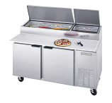 Beverage Air DP67 Pizza Prep Table - 67""