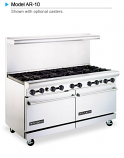 "American Range AR-10, 60"" Heavy Duty Restaurant Gas Ranges"