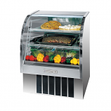 "Beverage Air CDR3-1-S-20 Curved Glass Refrigerated Bakery Display Case. Stainless steel finish, 37"". 13.4 Cu. Ft."