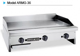 American Range ARMG-160 Manual Gas Griddle with 1 Inch Griddle Plate