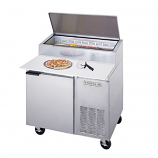 Beverage Air DP46 One Door Pizza Prep Table - 46""