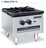 American Range SPSH-18-2 Economy Style Stock Pot Stoves with Low Profile