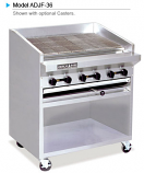 American Range ADJF-60 Adjustable Top Radiant Broilers Floor Model w/Open Cabinet Base