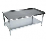 BK Resources SVET-4830 Equipment Stand with Stainless Steel Top Shelf and Undershelf