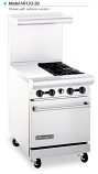 "American Range AR12G-2B 24"" Wide Restaurant Gas Ranges"