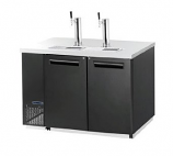 Maxx Cold MCBD60-2B Keg Cooler with Two Towers, Double Doors