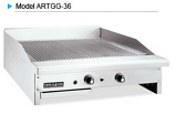 American Range ARTGG-48 Grooved Gas Griddles - Thermostatic Control