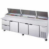 Beverage Air DPD119-2 Pizza Prep Table Three Door, Two Drawer 119""