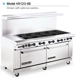 "American Range AR12G-10B 72"" Wide Restaurant Gas Ranges"