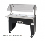 Triumph B3-120-B-S Portable Hot Food Buffet Table w/ Open Base & 3-Stainless Wells, 120 V
