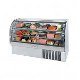 "Beverage Air CDR6-1-S Stainless Steel Finish Curved Glass Refrigerated Bakery Display Case 73"" - 27.6 Cu. Ft."