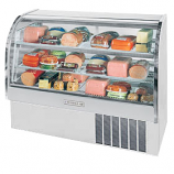 "Beverage Air CDR4-1-S-20 Stainless Steel Exterior Curved Glass Refrigerated Bakery Display Case 49"" - 18.1 Cu. Ft."