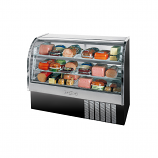 "Beverage Air CDR5-1-B Black Curved Glass Refrigerated Bakery Display Case 61"" - 22.9 Cu. Ft."