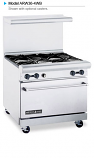 """American Range ARW36-4WB 36"""" Wide Restaurant Ranges with 32"""" Wide Oven"""