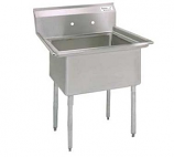 BK Resources BKS-1-1824-14 -One Compartment Sink w/o Drain Board, 18 in. x 24 in. x 14 in.