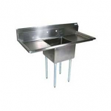 """BK Resources BKS-1-1824-14-24T Stainless 1 Compartment Sink w/ 18x24x14""""D Bowl & 2 Dboards"""
